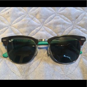 Ray-Bans Black and Green Clubmasters